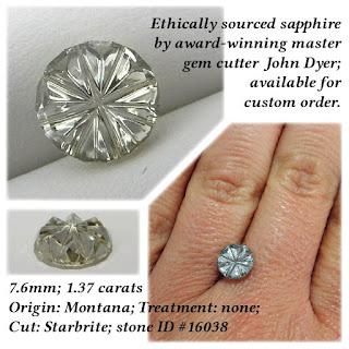 fancy cut montana sapphire