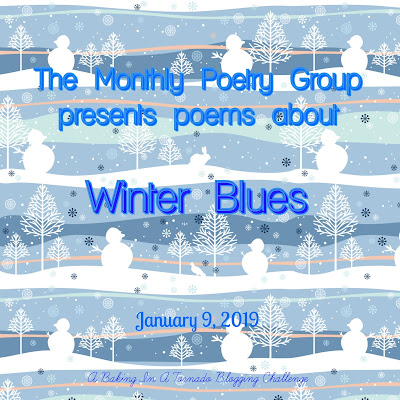 Poetry based on the theme Winter Blues | Graphic by Jules of The Bergham Chronicles, featured on www.BakingInATornado.com