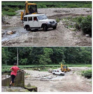 diversion constructed over Guye Khola in Lohagarh under Mirik block
