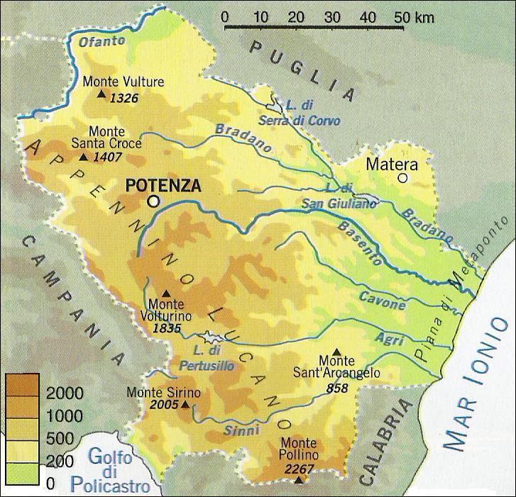 CARTINA BASILICATA PDF
