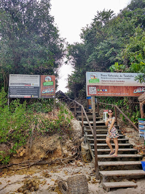 Entrada da parte naturalista da Praia de Tambaba.