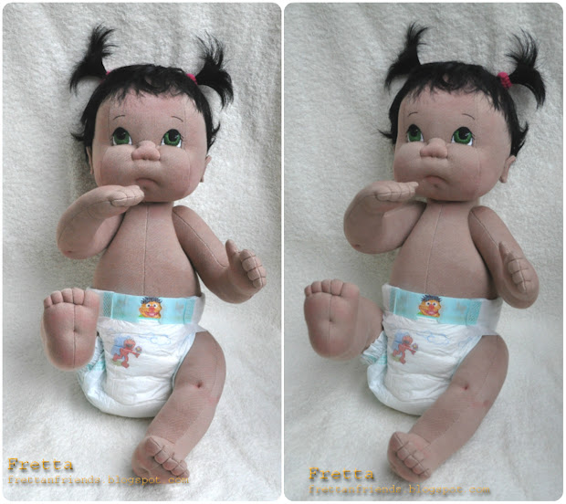 Fretta Life Size Soft Sculptured Jointed Baby Doll