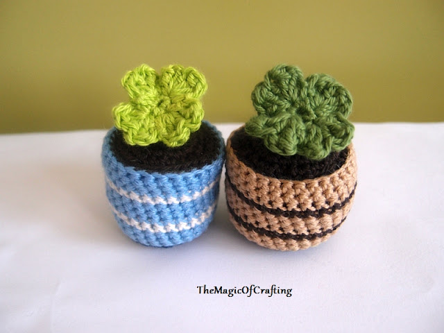Free Crochet Patterns And Diy Crochet Charts Clover In Pot