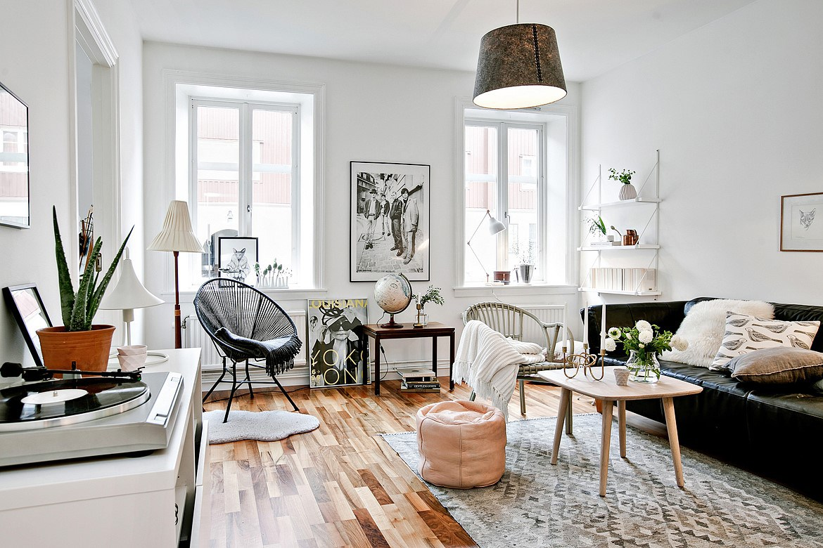 Woonkamer 35m2 Small And Cute Scandinavian Apartment Design Attractor