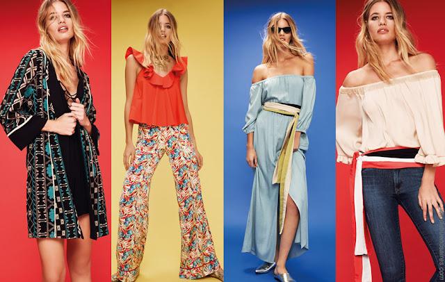 Looks de moda primavera verano 2018. Ideas para outfits casuales urbanos. Moda femenina. Moda 2018.