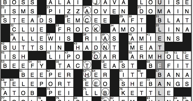 dating letters crossword clue