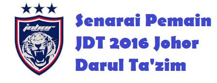 Image result for senarai pemain jdt 2016