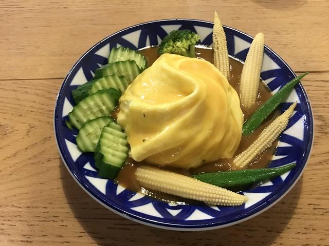 田園野菜咖哩歐姆飯