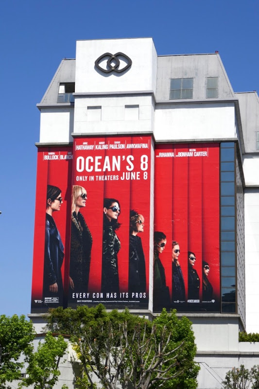 Giant Oceans 8 movie billboard