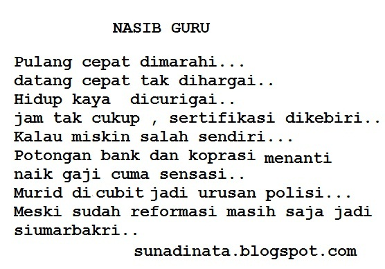 Ke(tidak)sejahteraan GURU