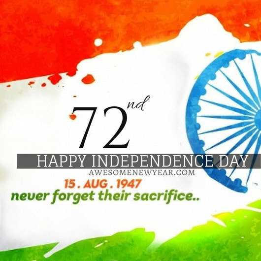 Happy independence day 2018 India