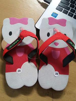 jual Sandal Sancu Happy Cat Merah