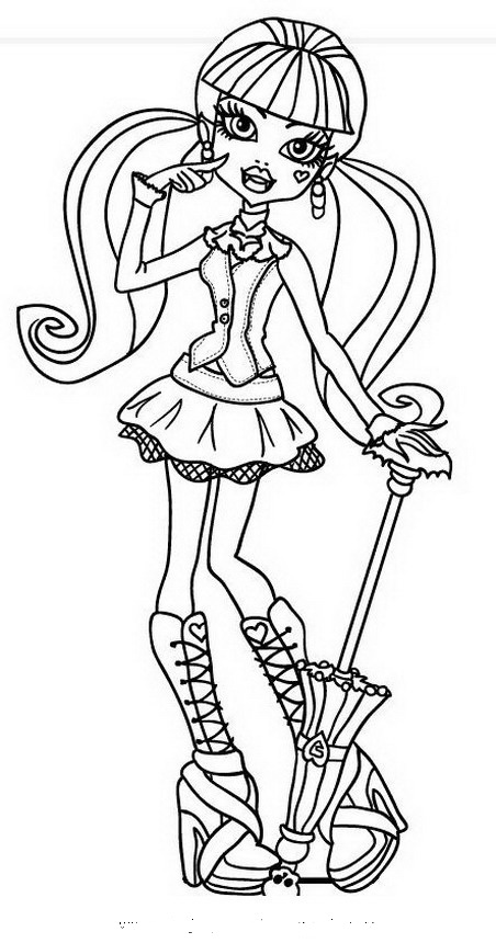 draculaura monster high coloring pages - videos monster high todos los capitulos de esta serie