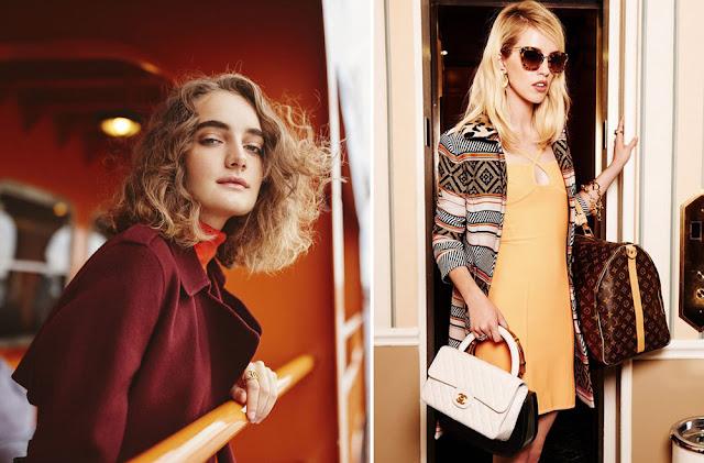Сочетание бордового, желтого и оранжевого в одежде
