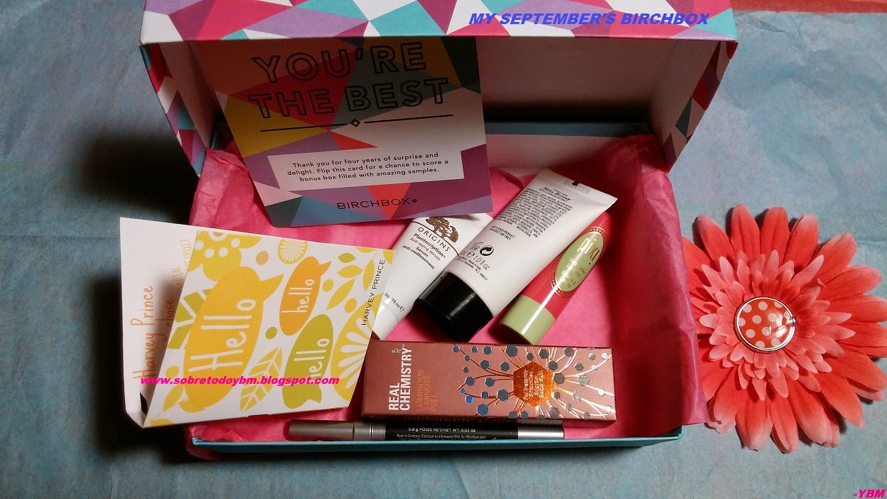 MY SEPTEMBER'S BIRCHBOX GIVEAWAY
