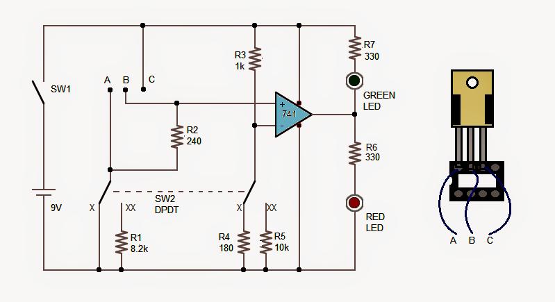 LM317 IC Tester Circuit