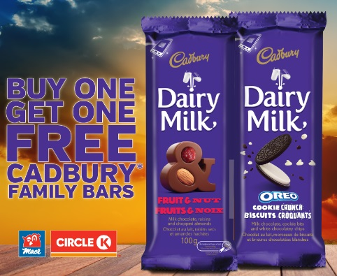 Mac's BOGO Buy 1 Get 1 Free Cadbury Bar Coupon