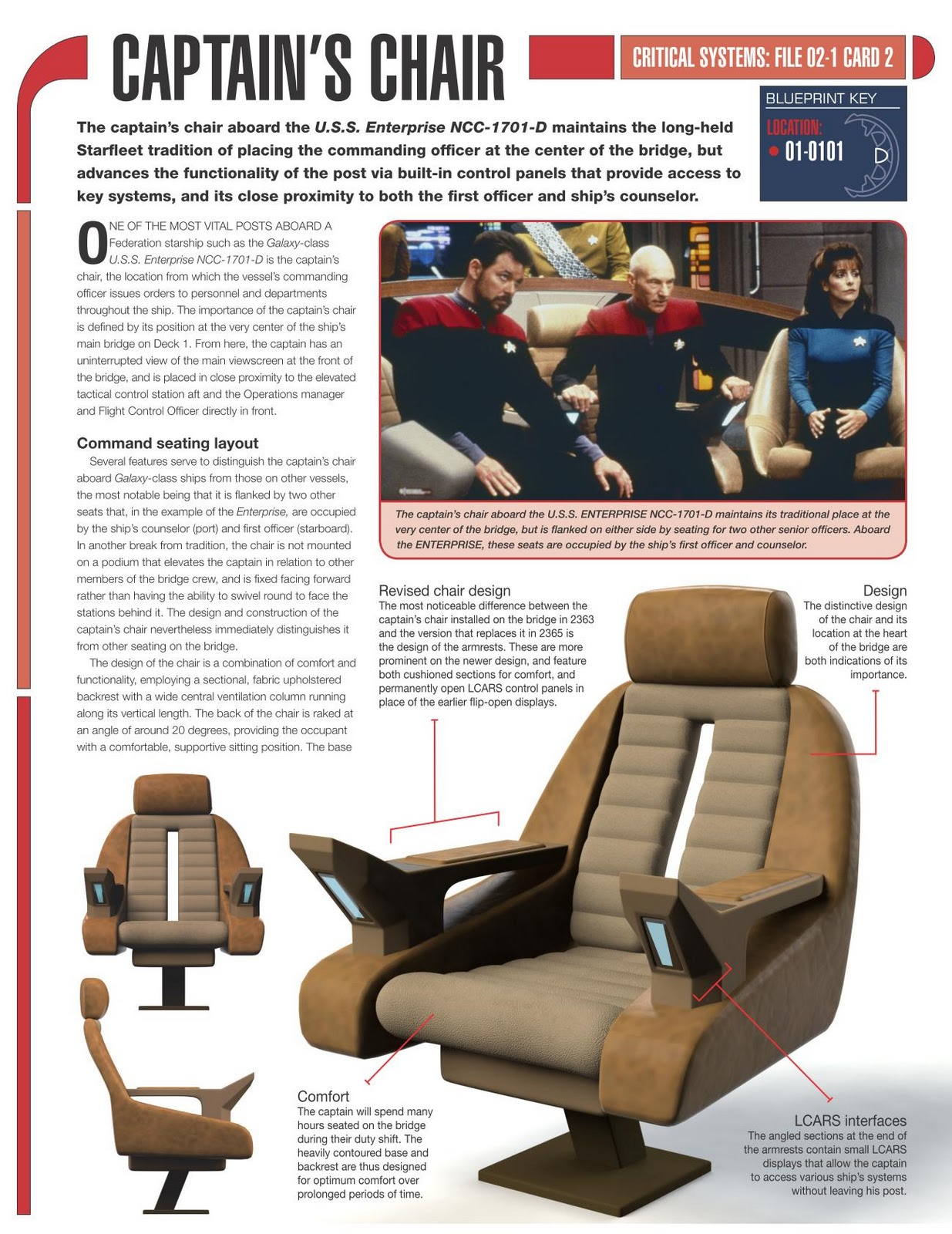 star trek captain s chair plans french linen the collective build enterprise issue by