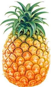 Foto de una piña entera - Fruta