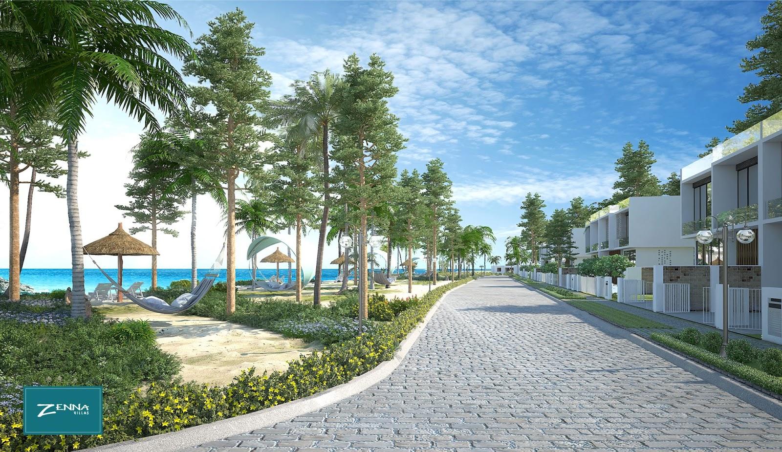 Phối cảnh biệt thự Zenna Villas Resort