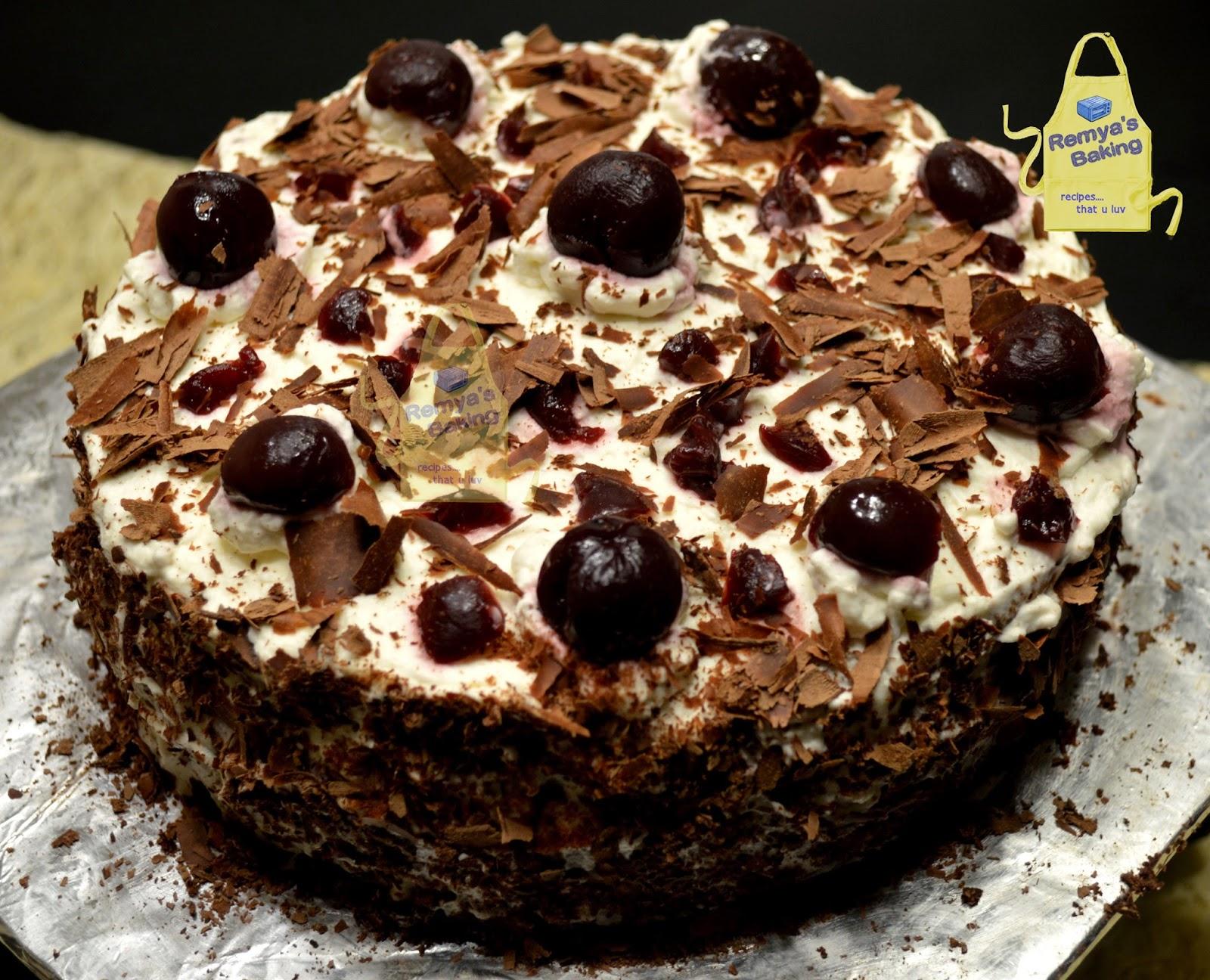 Black Forest Cake Ingredients In Grams