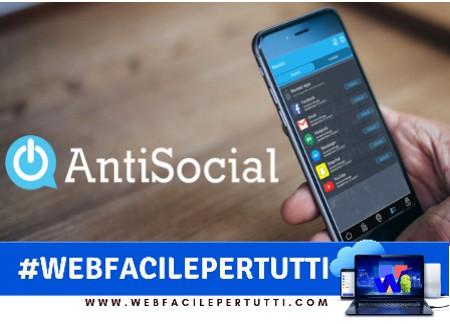 AntiSocial - Applicazione che controlla la dipendenza da telefono