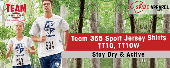 Stay Dry And Active In Team 365 All Sports Jersey Shirts