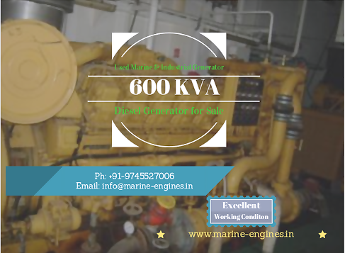 Marine Diesel Generator for Sale, Industrial Diesel Generator, Ship, boat, buy, online, working, running take out, ship breaking, ship yard