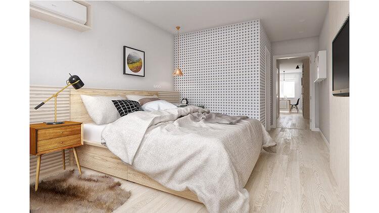 Reforma de un pequeño apartamento, dormitorio