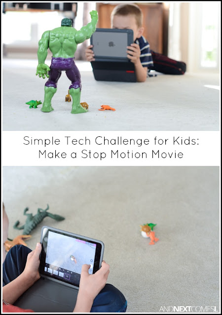 Simple technology challenge for kids: make a stop motion movie from And Next Comes L
