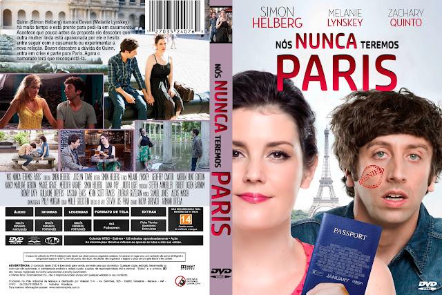 Capa DVD Nós Nunca Teremos Paris