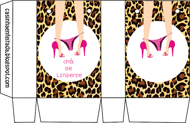 Lingery Hen Party Free Printable Box.