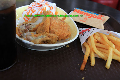 Chicken meal in Jollibee, Makati, Manila