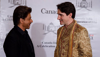 The Canadian Prime Minister Justin Trudeau meets with Shahrukh Khan and proposed to B-Town that India-Canada joint productions to be made in India