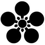 家紋である梅鉢紋の写真です。
