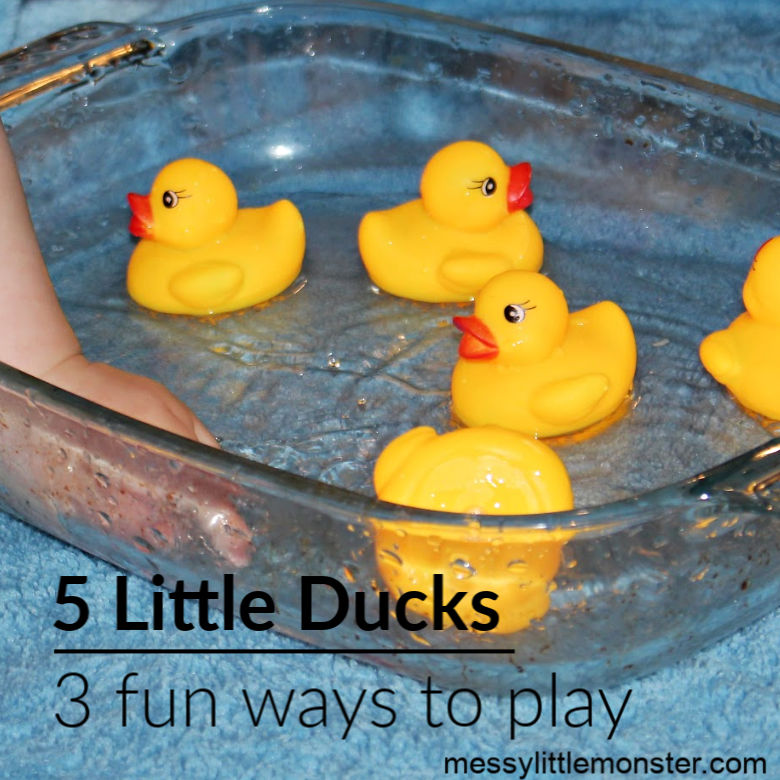 5 little ducks water play activity for babies