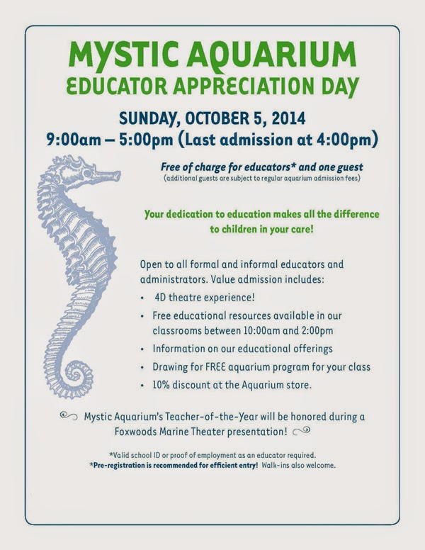 Mystic Aquarium Educator Appreciation Day