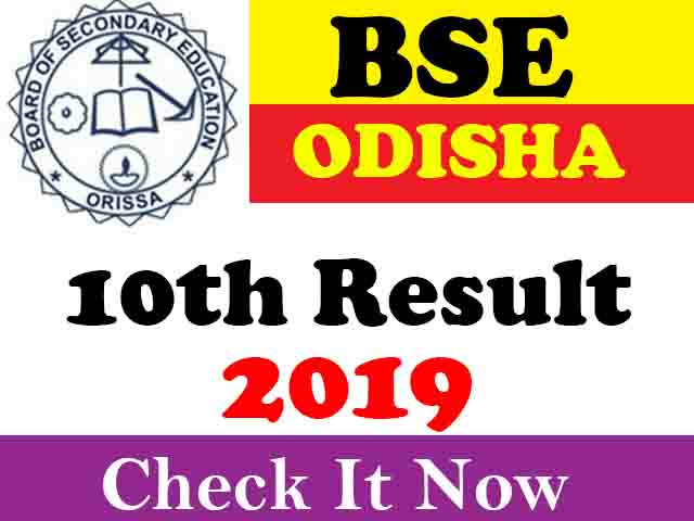 Board of Secondary Education Odisha 10th Result 2019