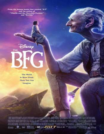 Poster Of The BFG 2016 Dual Audio 720p HDRip [Hindi - English] Free Download Watch Online downloadhub.net