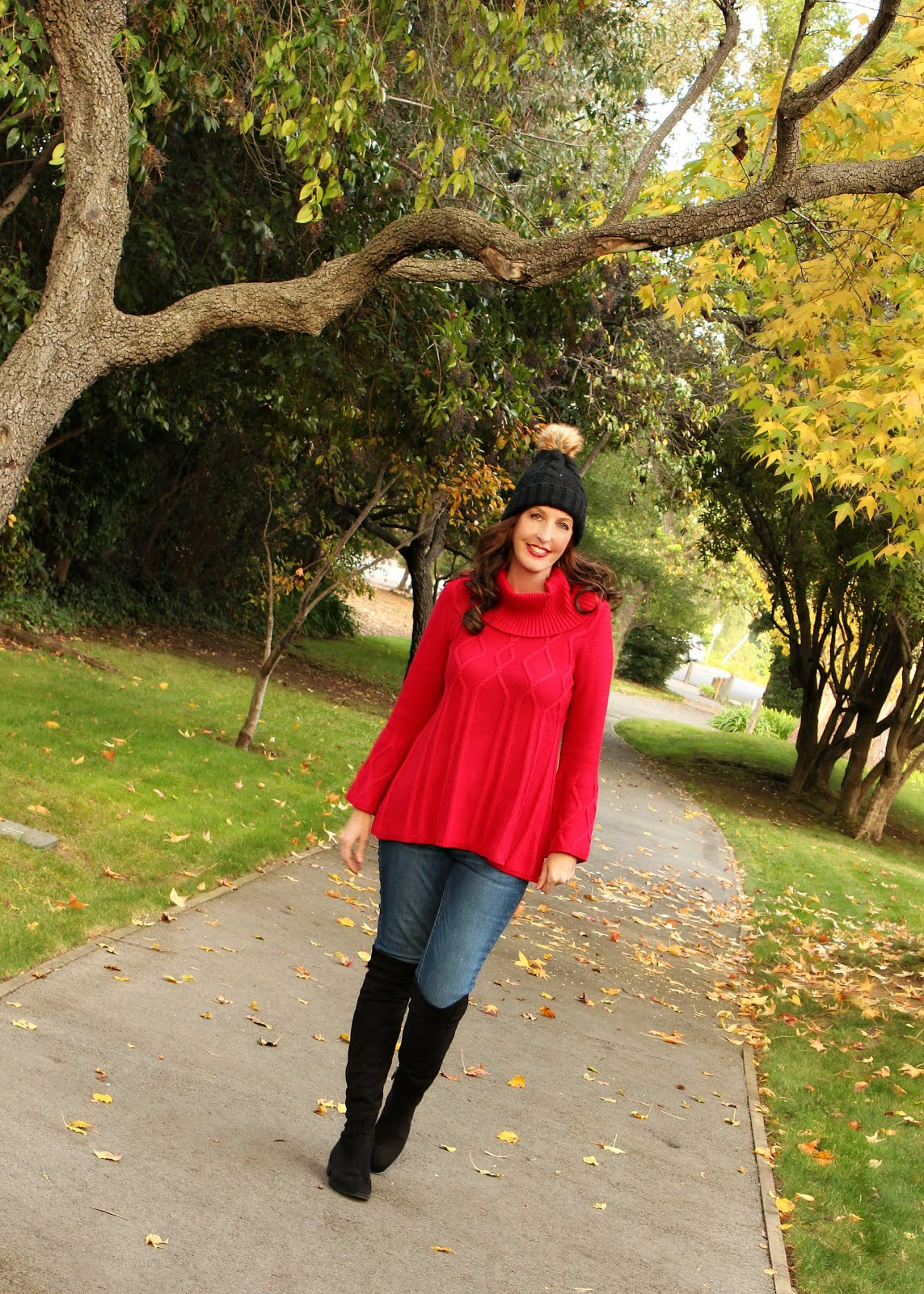 Winter Style: Red Holiday Sweater