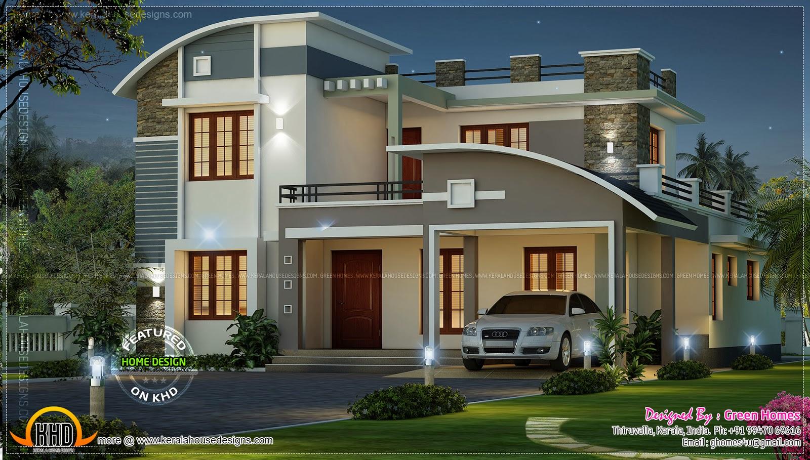 Modern beautiful home - Kerala home design and floor plans on Beautiful Home Decor  id=13511
