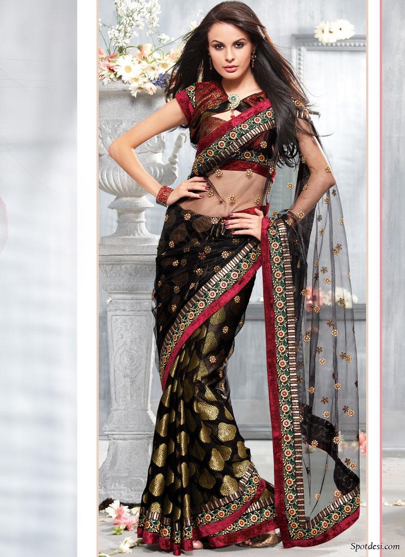 Bollywood Sarees Navels: Indian Saree Designs