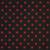 Retro Red Dots on Black
