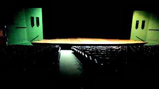 Palco do Teatro Elias Angeloni, no Centro Cultural Santos Guglielmi, em Criciúma