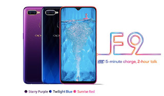 Oppo F9 Color and availability