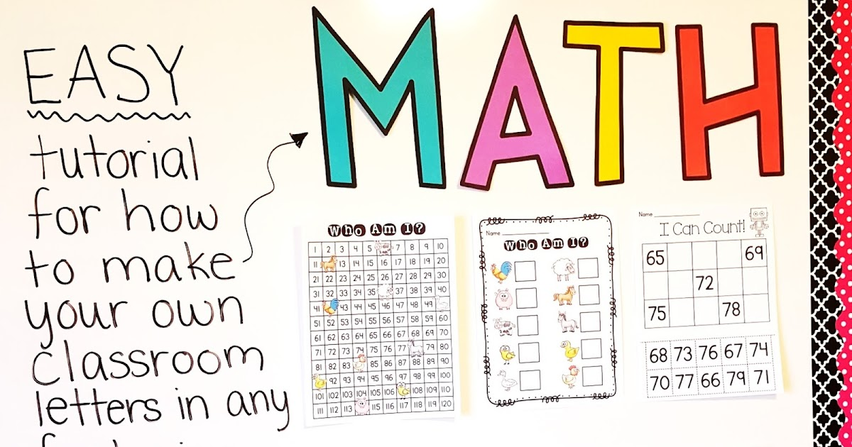 Miss Giraffes Class DIY Classroom Decor Bulletin Board Letters