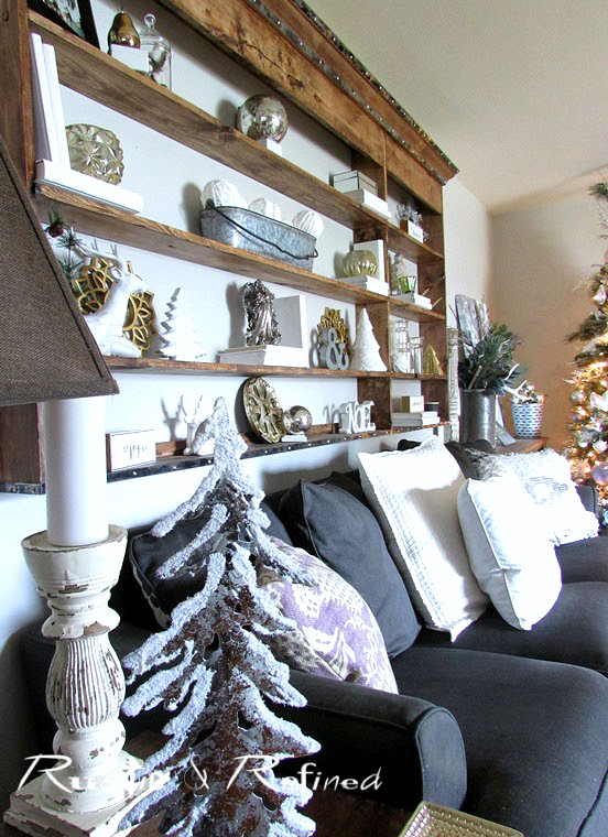 Grey and White Christmas Decor