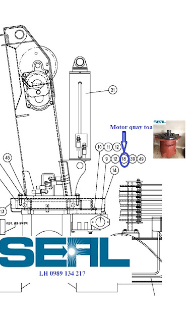Motor quay toa cau kanglim 3 tan KS735-KS734-KS733-S1121480-BMP100CO