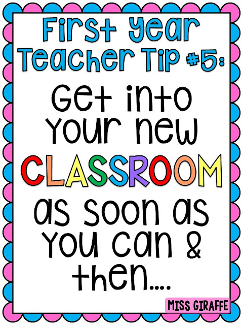 Beginning of the year tips for brand new teachers - a lot of helpful advice if you're new to teaching!
