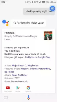 google music result